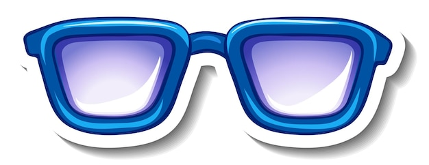 A sticker template with blue glasses