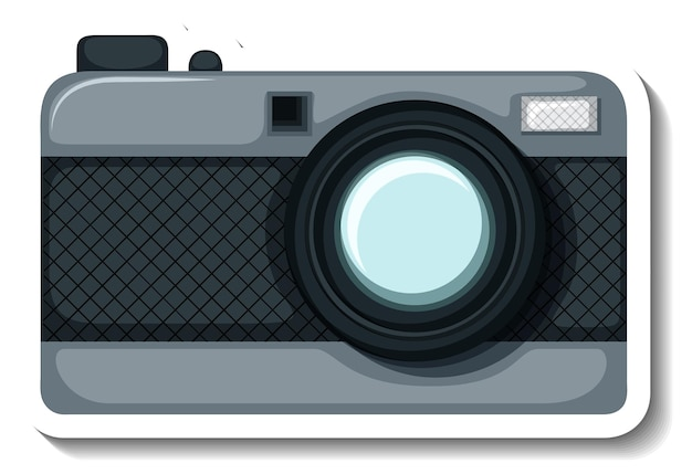 A sticker template with a camera isolated