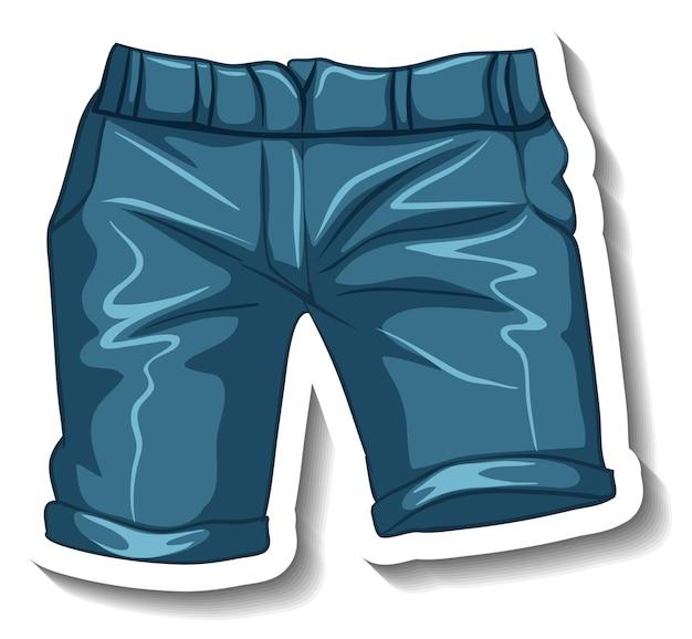 Un modello di adesivo con pantaloncini casual isolati