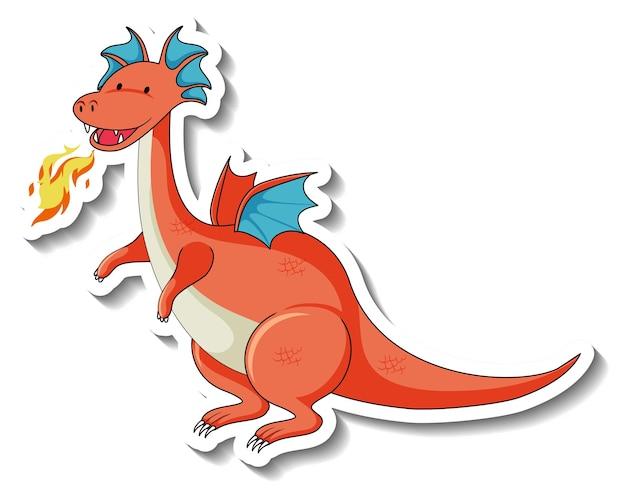 ファンタジードラゴンの漫画のキャラクターとステッカーテンプレート