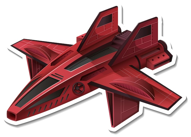 A sticker template with a fighter aircraft isolated