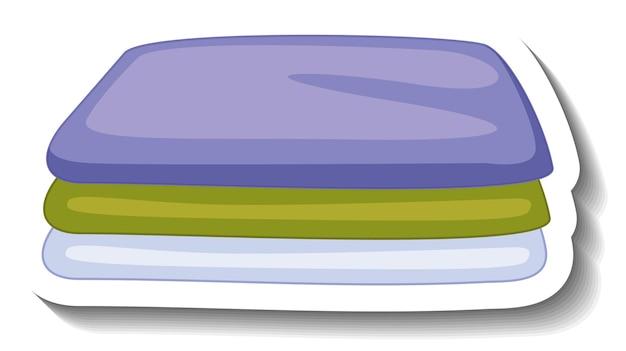 Un modello di adesivo con vestiti piegati isolati