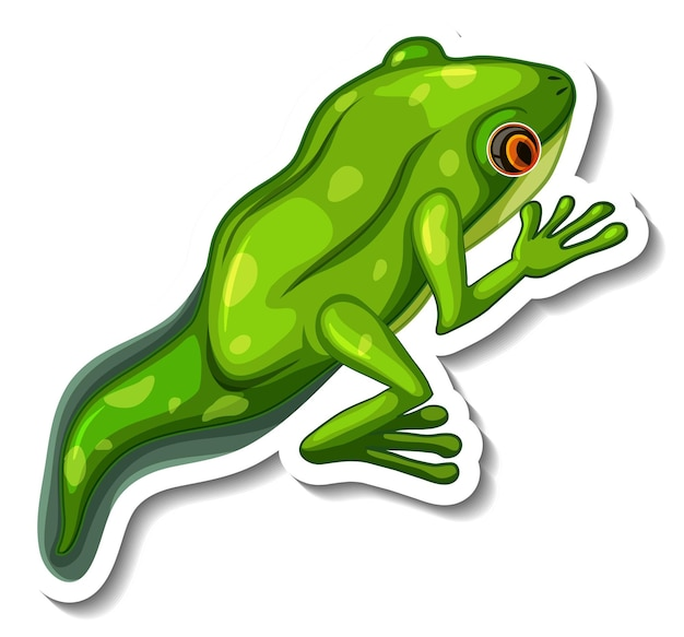 A sticker template with a froglet isolated