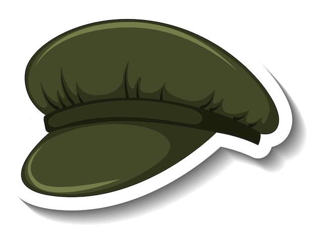 A sticker template with a newsboy cap isolated