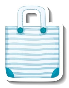 A sticker template with a unisex handbag isolated