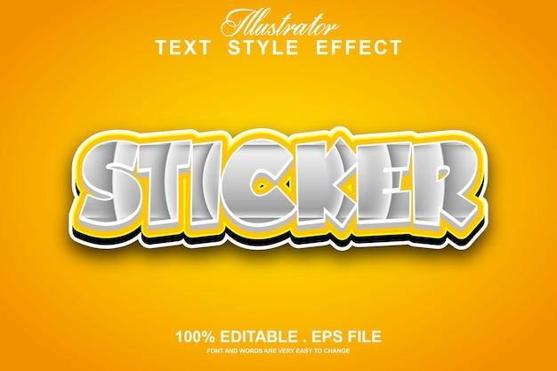 Sticker text effect editable