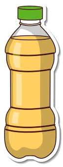 Adesivo bottiglia di olio vegetale Vettore gratuito