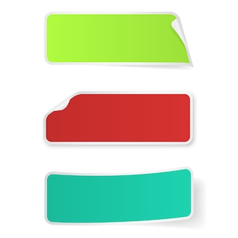 Stickers label isolated