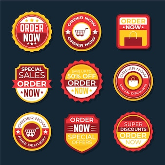 Stickers of order now promotion