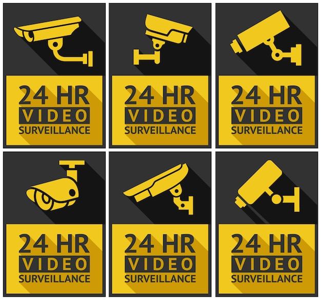 Stickers security camera set