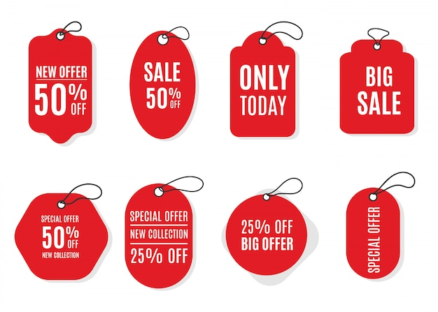 Stickers for tags, labels sale and banners. price tags