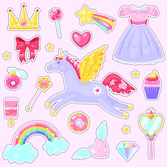 Stickers with unicorn