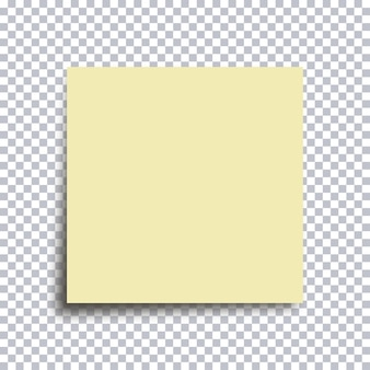 Sticky note paper. yellow sticker isolated on transparent background. vector illustration.