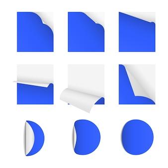 페이지 말림이있는 스티커 메모 용지
