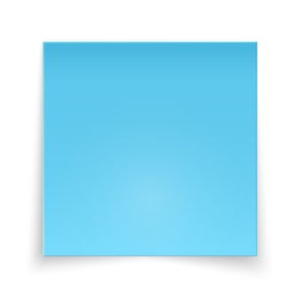 Sticky piece of blue paper