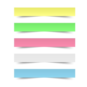 Sticky reminder notes. colored paper sheets office