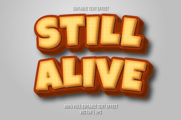 Still alive editable text effect retro style