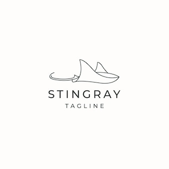 Stingray animal logo icon design template flat vector