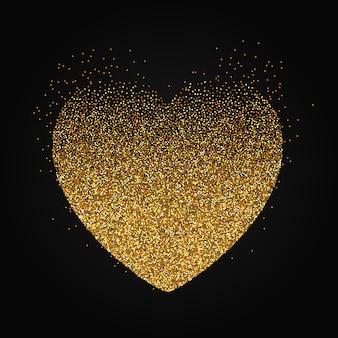 Stipple heart background