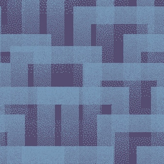点描正方形テクスチャトレンディなシームレスパターン青抽象芸術の背景