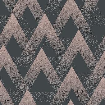 점묘 삼각형 원활한 패턴 복고풍 색상 추상적인 배경