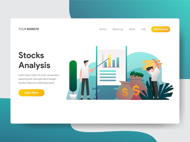 Stock analysis for web page