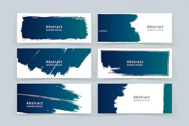 Набор абстрактных красок stock art banner