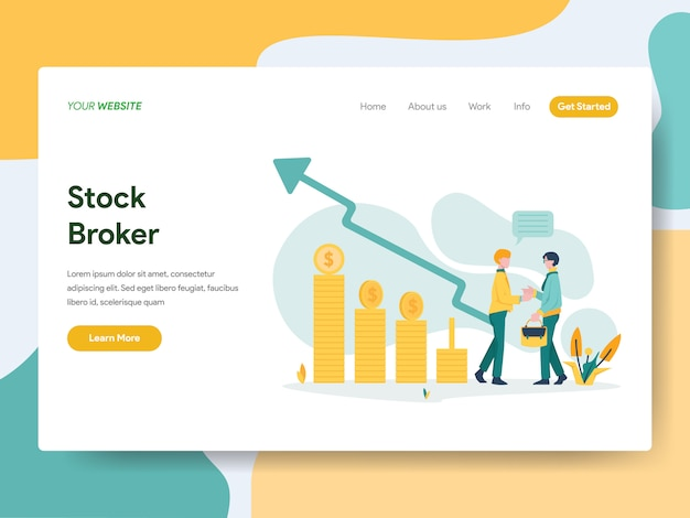 Stock brokerfor website page