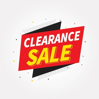 Stock clearance sale banner design