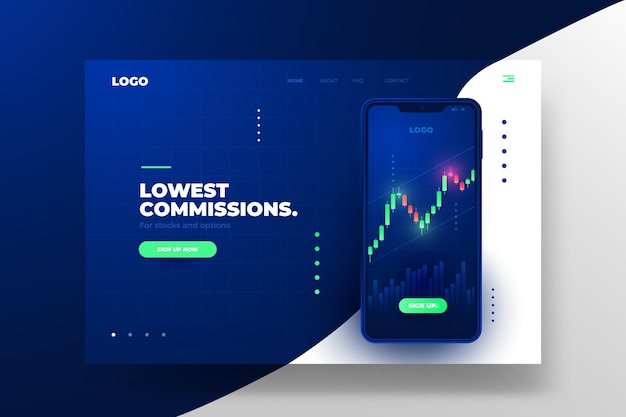 Stock exchange application - landing page