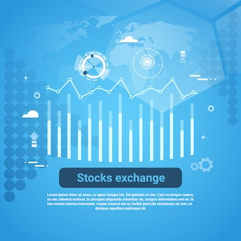 Stock exchange concept business web banner