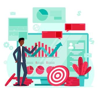 Stock exchange data concept
