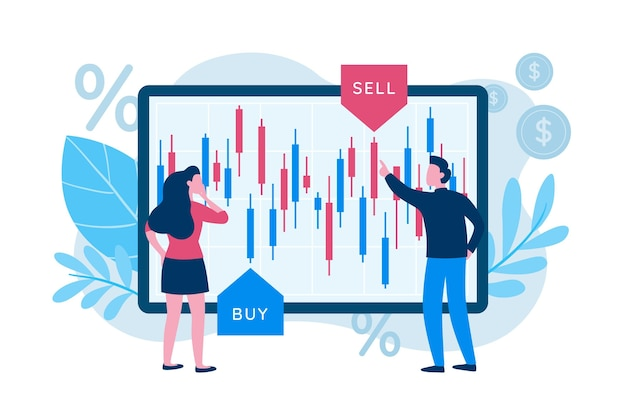 Stock exchange data concept
