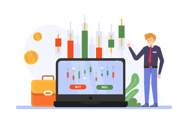 Stock exchange data illustration