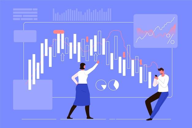 Stock exchange data theme