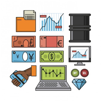 Stock exchange icons