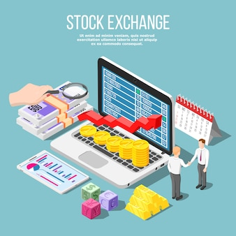 Stock exchange isometric