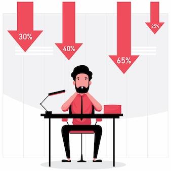 Сток-фолс изображает человека, сидящего со стрелкой вниз сзади