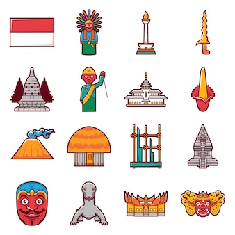 Stock icon of indonesia