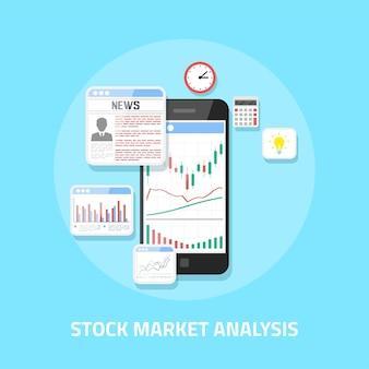 주식 시장 분석 개념, 온라인 외환 거래, 투자.
