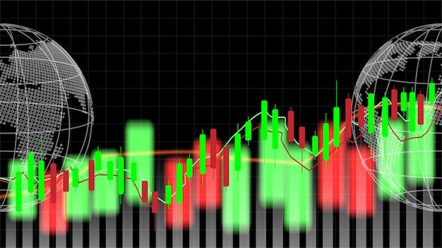 株式市場と世界の交流。