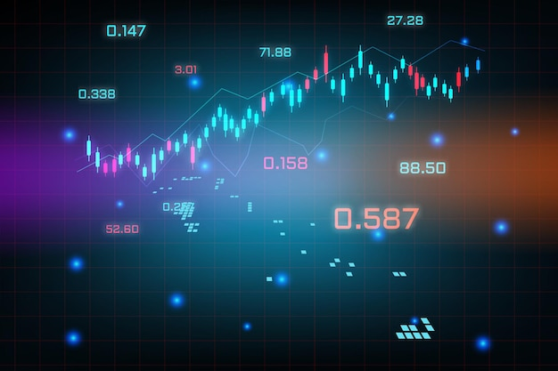 バハママップの金融投資コンセプトの株式市場の背景または外国為替取引ビジネスグラフチャート。ビジネスアイデアと技術革新の設計。