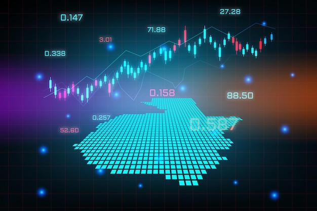 グアテマラマップの金融投資コンセプトの株式市場の背景または外国為替取引ビジネスグラフチャート。