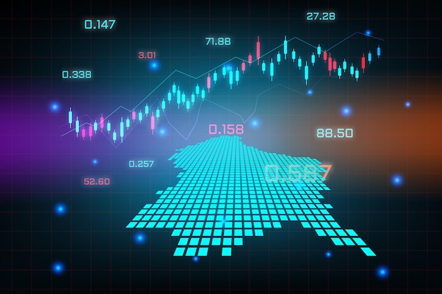 Фон фондового рынка или форекс торговый бизнес диаграмма для концепции финансовых инвестиций карты люксембурга. бизнес-идея и дизайн инновационных технологий.