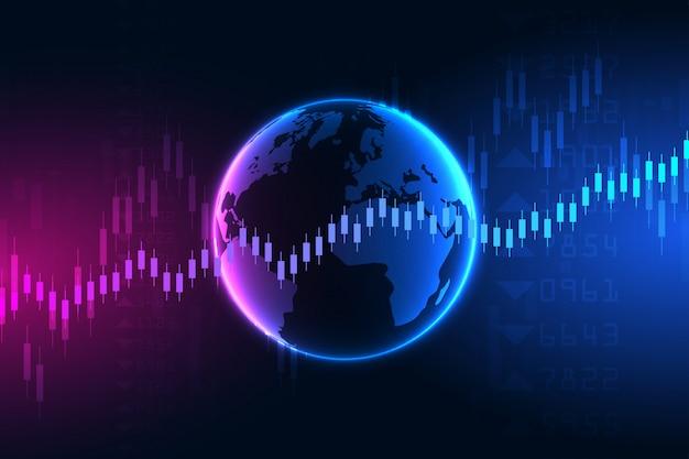 株式市場のデータ。グラフチャート金融と抽象的な背景。株式市場と取引所。