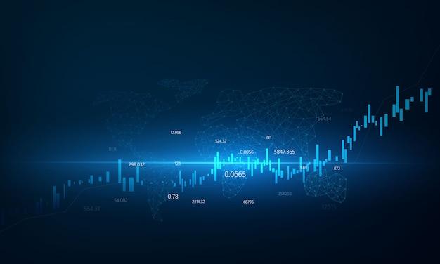 株式市場、図、ビジネスと金融の概念とレポート、抽象的なテクノロジーコミュニケーションコンセプト背景と経済グラフ