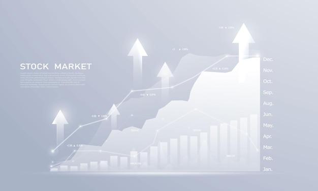 주식 시장, 다이어그램, 비즈니스 및 금융 개념 및 보고서, 추상 기술 통신 개념 배경 경제 그래프