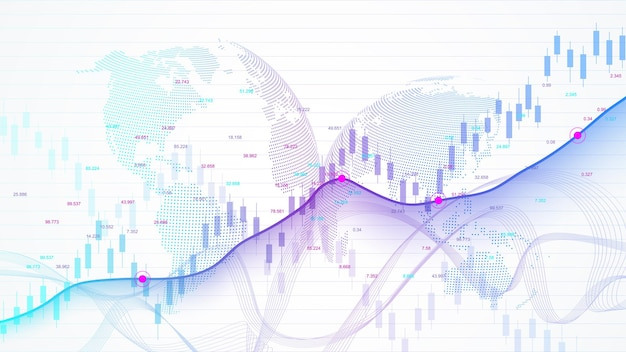Stock market and exchange. business candle stick graph chart of stock market investment trading