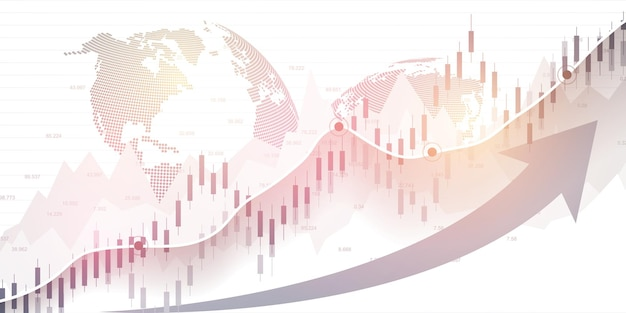 Stock market and exchange vector illustration