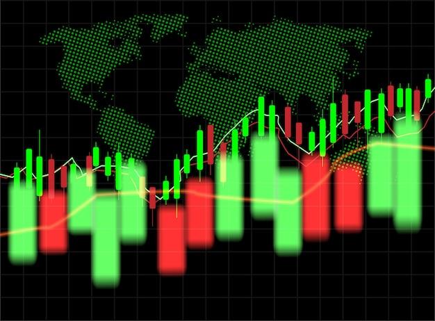 Stock market and exchange of world.